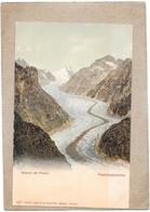 SUISSE - CPA DOS SIMPLE COLORISEE TRES RARE - Glacier De FIESCH - DELC5 - - VS Valais