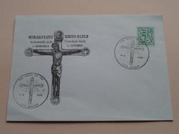 MIRAKULEUS KRUIS-BEELD Berustende In De Parochiale Kerk Te HOBOKEN 14.9.1980 ( Zie Foto's ) Omslag / Enveloppe ! - Zonder Classificatie