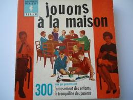 FRANCE USED BOOK 1962 MARABOUT FLACH 300  JOUONS A LA MAISON - Livres, BD, Revues