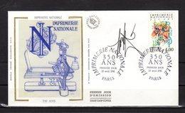 """"""" IMPRIMERIE NATIONALE """" SIGNEE Sur Enveloppe 1er Jour De 1990 (par RAYMOND MORETTI) N°YT 2691. Parfait état - Documents De La Poste"""