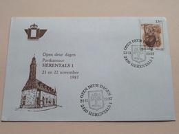 OPEN DEUR DAGEN Postkantoor HERENTALS 1 - 21 En 22 November 1987 ( Zie Foto's ) Omslag / Enveloppe ! - Entiers Postaux
