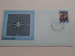 Christmas 1980 - 1 Oct 1980 Grosvenor Street NSW 2000 ( Zie Foto's ) Enveloppe ! - Primo Giorno D'emissione (FDC)