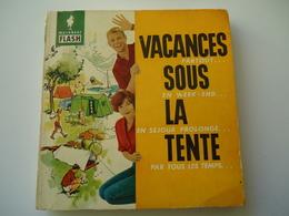 FRANCE USED BOOK 1962 MARABOUT FLACH  VACANCES SOURS LA TENTE - Livres, BD, Revues