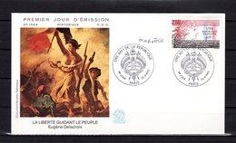 """"""" L'AN I DE LA REPUBLIQUE """" SIGNEE Sur Enveloppe 1er Jour De 1992 (par GOFFIN) N°YT 2771 Parf état - Révolution Française"""
