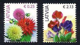 Latvia Lettland LettonieLatvia 2018  Definitive - Flowers - Dahlia - Flower Pea  MNH - Lettonie