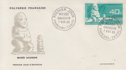 Enveloppe  FDC   1er  Jour   POLYNESIE   Musée  GAUGUIN    1965 - FDC