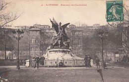 Cp , 42 , SAINT-ÉTIENNE , Monument Des Combattants - Saint Etienne