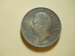 Portugal 500 Reis 1888 D. Luiz I Silver - Portugal
