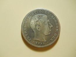 Portugal 500 Reis 1858 D. Pedro V Silver - Portugal