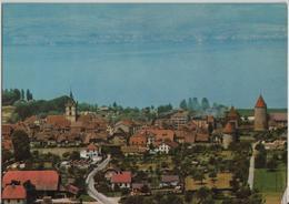 Estavayer-le-Lac - Vue Generale - Flugaufnahme - FR Fribourg