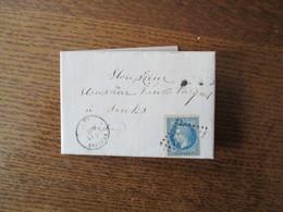 TIMBRE EMPIRE FRANC 20c PETIT CACHET 161 LAIGLE 8 AOUT 55 SUR LETTRE DE St SULPICE DU 7 AOUT 1855 Vve DAVID NEE LAISNE - Marcophilie (Lettres)