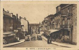 Carte Postale Ancienne De Brive L'avenue De La Gare - Brive La Gaillarde
