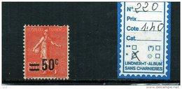 FRANCE A CHARNIERE * 225 - 1906-38 Semeuse Con Cameo