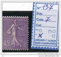 FRANCE Charnier * (197) - 1903-60 Semeuse A Righe
