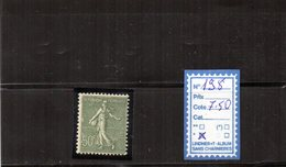FRANCE Charnier * (198) - 1903-60 Semeuse A Righe