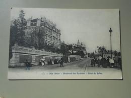 PYRENEES ATLANTIQUES PAU L'HIVER BOULEVARD DES PYRENEES HOTEL DU PALAIS - Pau