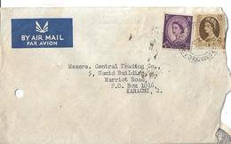 Great Britain 1958 Wales  3d Queen Elizabeth II Airmail Cover - 1952-.... (Elizabeth II)