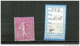 FRANCE A CHARNIERE * 202 - 1903-60 Semeuse A Righe