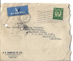 Great Britain 1952 Queen Elizabeth II Postage Revenue 1/3 Airmail Cover - 1952-.... (Elizabeth II)