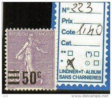 FRANCE A CHARNIERE * 223 - 1903-60 Semeuse A Righe