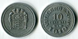 N93-0547 - Monnaie De Nécessité - Gex - 10 Centimes 1919 - Noodgeld
