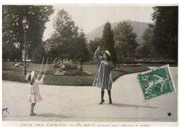 (ORL 638) Very Old Postcard - Jeux D'enfant / Children Games - Jeux Et Jouets