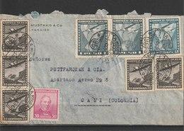 MiNr. 192, 193 U.a. Chile /  1931, 1. Mai/1935. Flugpost-Inlandsdienst: Flugzeug über Landschaften. - Chile
