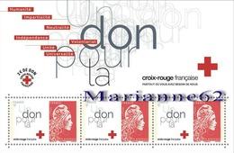 2018 BF Faites Un Don Pour La CROIX-ROUGE - Marianne L' Engagée Yseult YS Made Donation For Red Cross - MNH / Neuf - Blocs & Feuillets