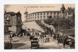 - CPA SAN SEBASTIAN (Espagne) - Subida A La Plaza De Toros (belle Animation) - Edicione G. G. Galarza N° 72 - - Guipúzcoa (San Sebastián)