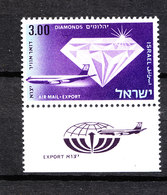 Israele   -   1968. Diamante Ed Aereo. Diamond And Plane.  MNH - Minerali