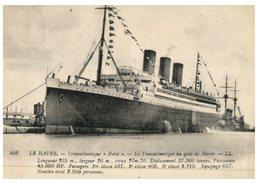 (ORL 638) Very Old Postcard - France / Le Havre - Cruise Sip / Paquebot Paris - Dampfer
