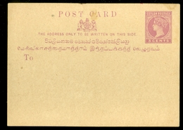 CEYLON * SRI LANCA * 3c QV POSTCARD * MINT (11.450s) - Sri Lanka (Ceylon) (1948-...)