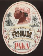 ETIQUETTES - RHUM PAKA - ETS MOINIL COURCELLES - Rhum