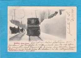 Quebec 1903. - Scène D'Hiver. - Train. - Quebec