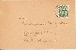 Germany French Zone Rheinland Pfalz Nice Cover Speyer 28-10-1947 Single Franked - French Zone