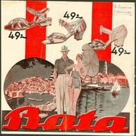 Vrlo Stari Reklamni Prospekt Bata Crikvenica & Mapa Sa Poslovnicama Croatia RR - Advertising