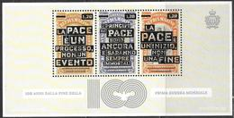 San Marino/Saint-Marin: Anniversario Prima Guerra Mondiale, Anniversaire De La Première Guerre Mondiale, First World War - Prima Guerra Mondiale