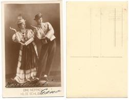 Gino Neppach & Hilde Schlieben Ballet Dancers - Pcard Signed Gino Non Traveled - Danza