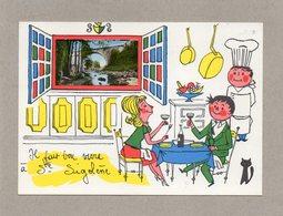 CPA - SAINTE-SIGOLENE (43) - Carte D'illustrateur Avec Petite Image Encartée - Années 60 - Il Fait Bon Vivre à ... - Sonstige Gemeinden