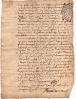 Jugement Manuscrit Litige 1737 Chastellenie De Vouzon Lamotte Beuvron Cachet Généralité D'Orléans Dix Den. 2 Pages - Manuscripten