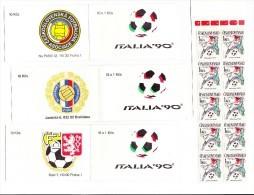3 Carnet Coupe Du Monde Football Italia 90 De 10 Timbres C 2849 / Booklet World Cup 1990 Italia Mi 3049 - Tchécoslovaquie