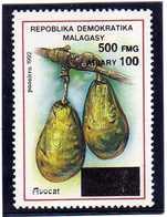 """MADAGASCAR 1998  MNH -  """" FRUITS /  AVOCAT  SURCHARGE / OVERPRINT """"  - 1 VAL. - Madagascar (1960-...)"""