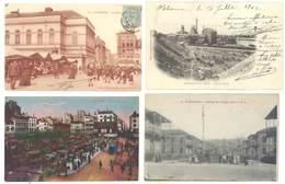 4 Cpa Saint-Etienne - Houillères, Théâtre, Marché, Tramway, Hospices Civils,  ...  ( S.3047) - Saint Etienne