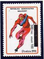 MADAGASCAR  1998  MNH  -  SPORT / PATINAGE VITESSE  SURCHARGE / OVERPRINT - Madagascar (1960-...)