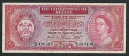 BELIZE 5 DOLLARS 1976 PICK # 35b VF+ - Belize