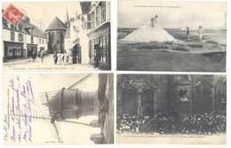 4 Cpa Guérande - Moulin Du Diable, Mulons De Sel, Place Du Pilori, Evêque De Nantes,  ...  ( S.3050) - Guérande