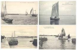 4 Cpa Le Croisic - Chaloupe, Bâteau De Pêche, Pen-Bron ...  ( S.3051) - Le Croisic