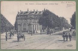 CPA - PARIS - AVENUE BOSQUET & AVENUE RAPP - Animation, Petit Attelage, Chevaux - ELD / 810 - Arrondissement: 07