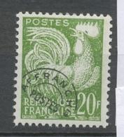 Préoblitérés N°113 Typographie - 20 F. Vert ZP113 - Préoblitérés