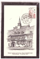 TEM9858   -   ALBERT SCHWEITZER   -  KAYSERSBERG  14.1.1975 - Cartoline Maximum
